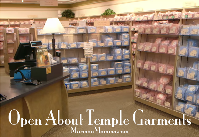 Open About Temple Garments